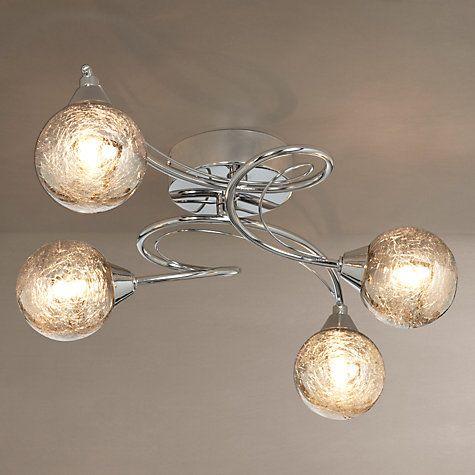 Buy John Lewis Corin Crackly Glass Semi Flush Ceiling Light 4 Arm Online At