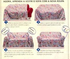 Чехол на диван из цельного куска ткани