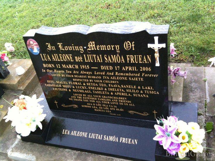 Headstone image of Lua Aileone (Liutai Samoa Fruean)