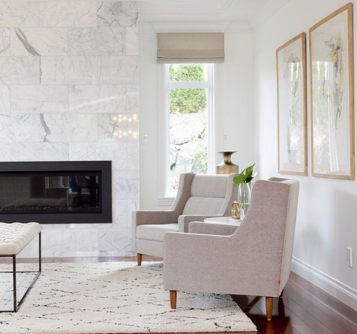 Neutral Living Room With Traditional Fireplace In 2019: Fireplace -- Marble Tile? Is Textured Fireplace More