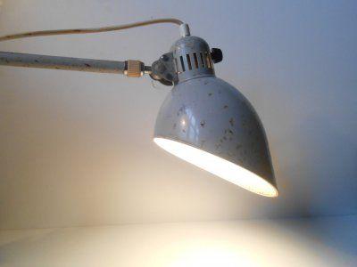 Industriel væglampe - emalje: Tyskland 1940'erne