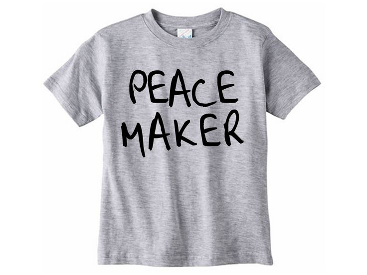 Peacemaker Shirt // Children's clothing - Graphic tee - Mommy and me shirts  - Blessed are the peacemakers - Toddler tshirt - Peace maker by SkeleteePrinting on Etsy