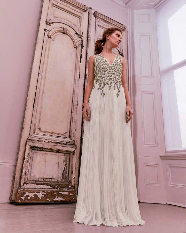3fdd35656fb Ted Baker GELDA Embellished pleated maxi dress