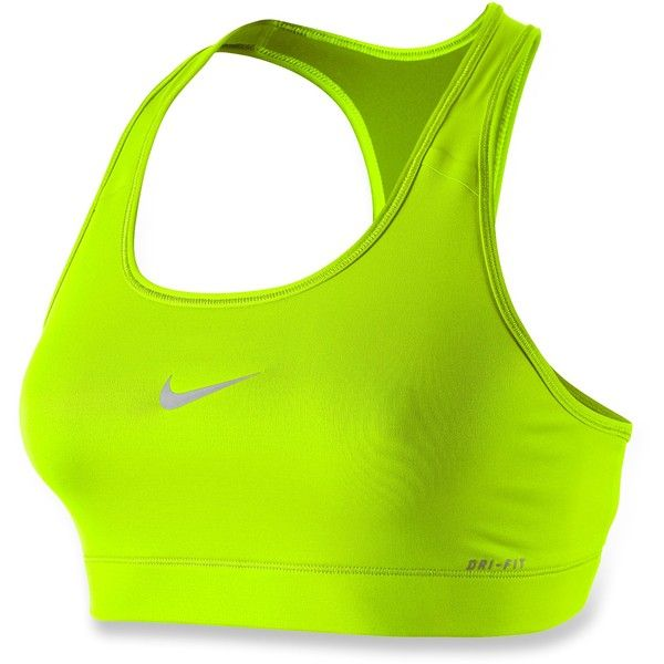 Nike Victory Compression Sports Bra ($21) ❤ liked on Polyvore featuring activewear, sports bras, sport, nike, tops, green sports bra, nike activewear, sports bra and nike sportswear
