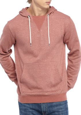Ocean Current Men's Long Sleeve Hooded Slub Fleece Pullover - Dusty Rose - Xl