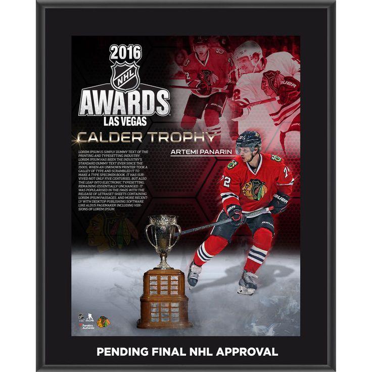 "Artemi Panarin Chicago Blackhawks Fanatics Authentic 10.5"" x 13"" 2016 Calder Memorial Trophy Winner Sublimated Plaque"
