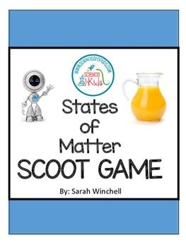 States of Matter Scoot Game for First, Second and Third Grade