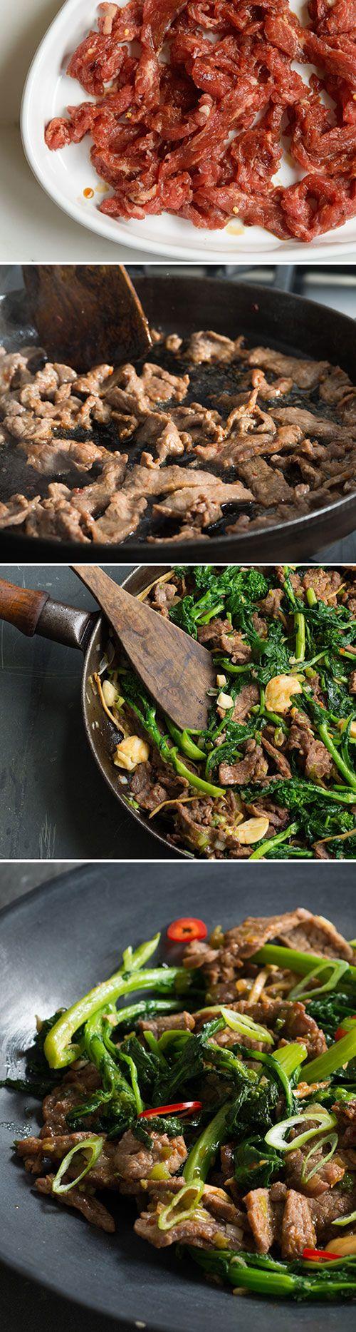 Beef and Broccoli Rabe Stir Fry Recipe