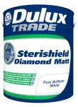 ICI Paints - Dulux Trade Sterishield Diamond Matt AntiMicrobial Hygienic paint for a washroom/kitchen