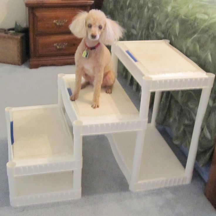 actually you can find these shelves for about $10 at dollar general!! wow! Always Learning Stuff: DIY Tall Dog Stairs for about $40