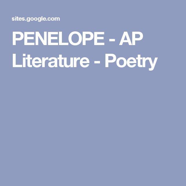 PENELOPE - AP Literature - Poetry