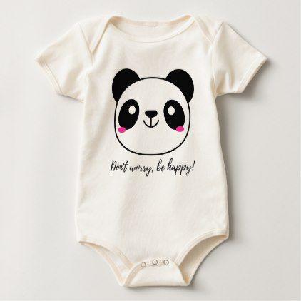 #cute #baby #bodysuits - #Don't Worry Be Happy! Slogan Baby Bodysuit