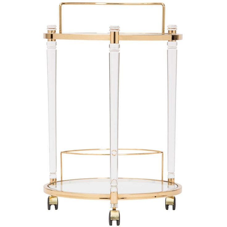 Midcentury Bar Cart in Lucite & Gilt Brass | From a unique collection of antique and modern bar carts at http://www.1stdibs.com/furniture/tables/bar-carts/