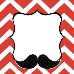 etiqueta Candy Bar bigotes imprimible / free printable mustache labels candy bar