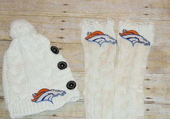 Denver Broncos Leg Warmers Boot Socks with by ItsPeachyKeen