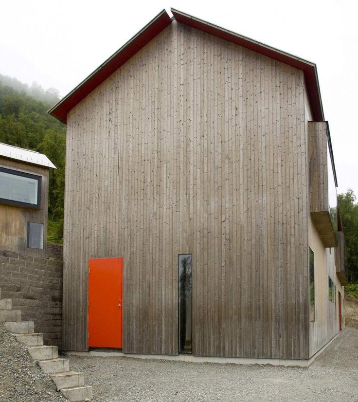 minimal. door. thin window. wood. gap.