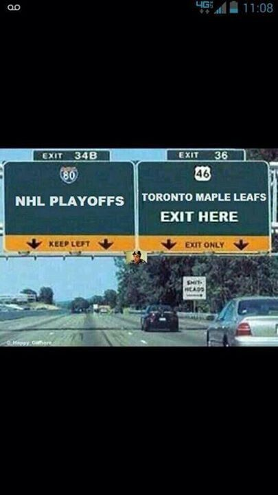 Leafs exit here.
