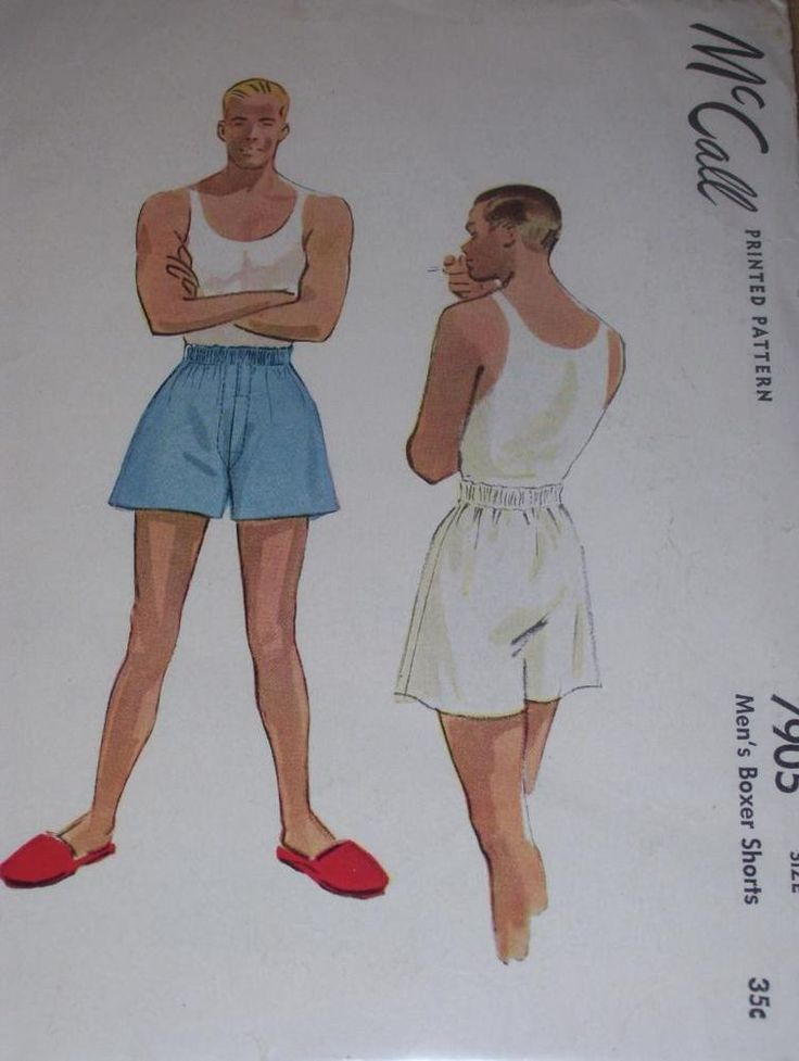 VINTAGE 1949 (POST WWII ) McCALL #7905 - FABULOUS MEN'S BOXER PATTERN   W-36