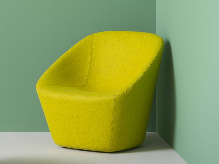 Upholstered fabric armchair with armrests LOG LOUNGE by PEDRALI design Manuela Busetti, Andrea Garuti, Matteo Redaelli