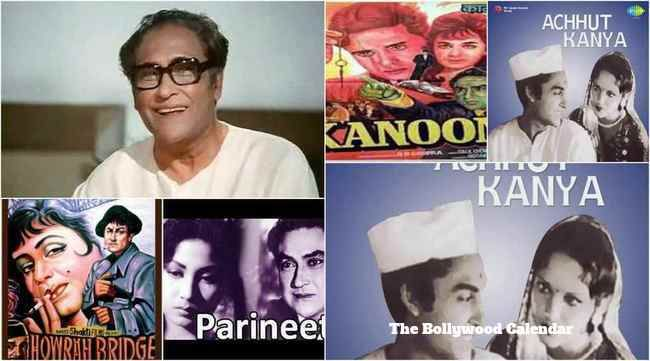 Best Top 10 Movies of Ashok Kumar In Bollywood such as Pareenita, Achhut Kanya, Kanoon, Hawera Bridge, Intequam, Jhoola, Victoria No 203 and Aashirwad