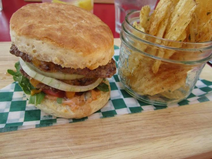 Best of Burgers! Found at The Socialist Pig Coffee House in Downtown Gananoque.