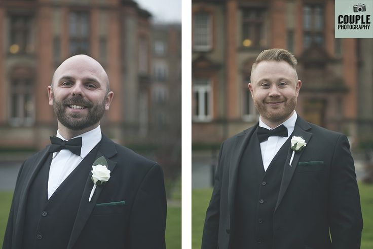 The groomsmen in tuxes. Weddings at Thomas Prior Hall, The Clayton Hotel by Couple Photography.