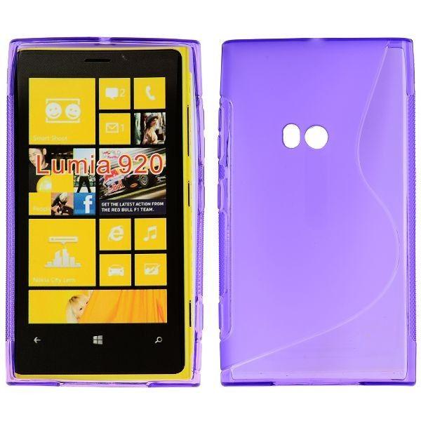 S-Line Läpikuultava (Violetti) Nokia Lumia 920 Suojakuori