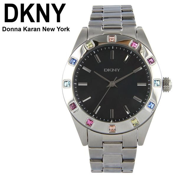 DKNY Coloured Crystals Silver Stainless-Steel Ladies Watch