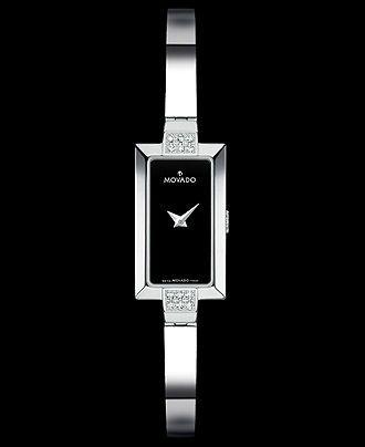 Movado Watch, Women's Bela Diamond Accented Stainless Steel Bracelet 0606133 - Women's Watches - Jewelry & Watches - Macy's