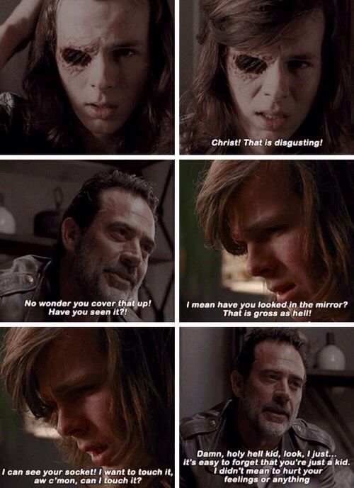 The Walking Dead Season 7 Episode 7 'Sing Me a Song'  Negan and Carl