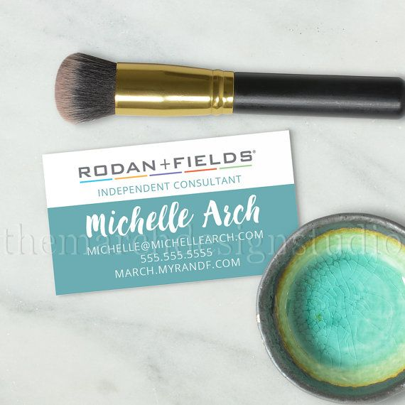 Rodan and Fields Business Cards Digital by TheMarchDesignStudio