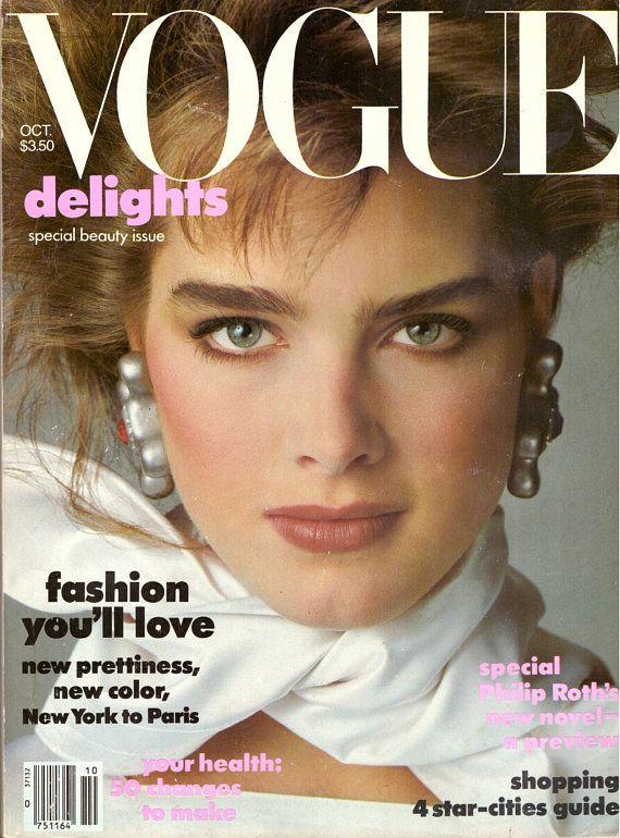 1983 Vogue Fashion Magazine Brooke Shields Venice Italy Lord