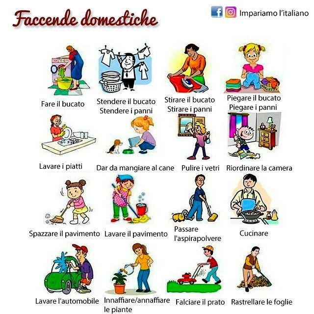 1236 best images about italiano on pinterest language for Planning faccende domestiche