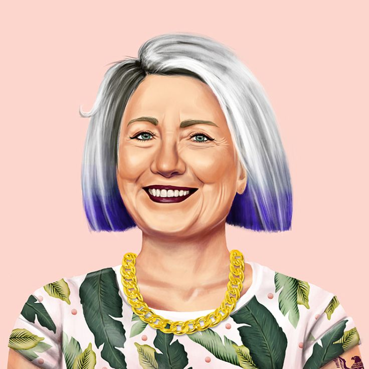 "Artist Amit Shimoni - painting of Hillary Clinton in his ""Hipstory"" series - What Your Favorite Political Leaders Would Look Like As Hipsters"