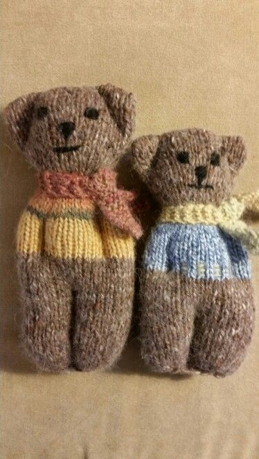Animal comfort dolls, pattern by PK Olson.