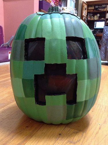 The older boy would love this Minecraft pumpkin
