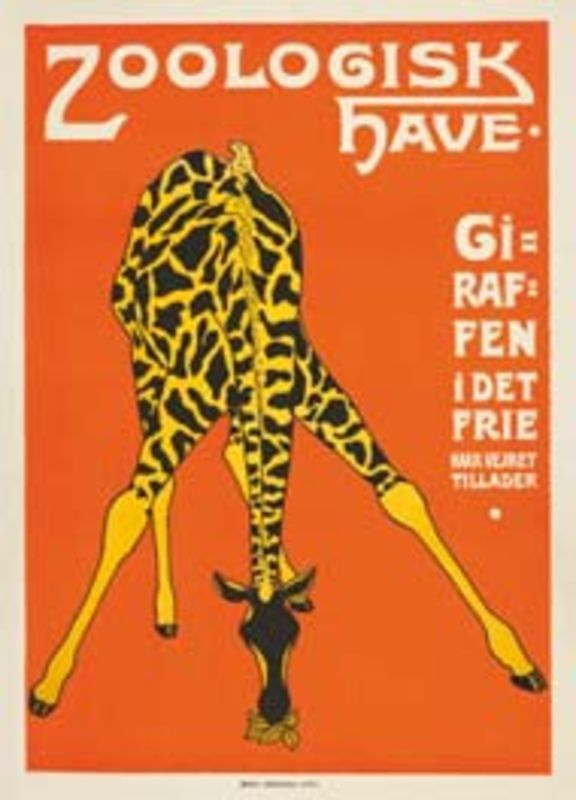 Vintage Travel Poster- Copenhagen Zoo - Denmark.