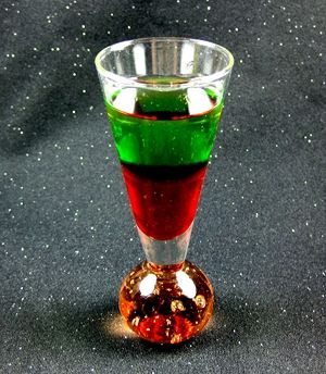Santa Shot cocktail (Can you tell which part of my saved links I'm in? At least it's only seven months behind, and anyway I lost most of my saved links in the Google Reader migration.)