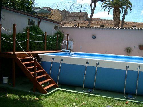 Oltre 25 fantastiche idee su scaletta per piscina su - Accessori piscina fuori terra ...
