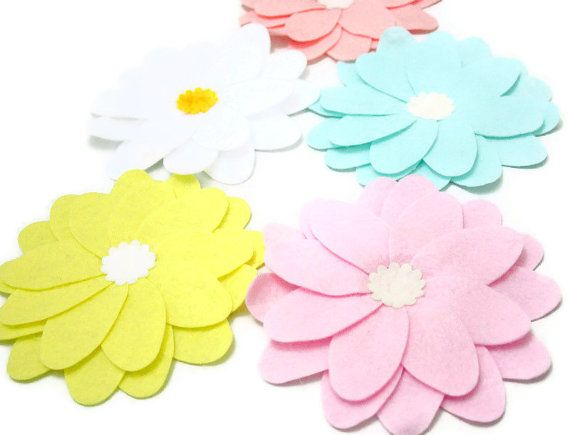 Check out this item in my Etsy shop https://www.etsy.com/listing/127922175/pastel-colours-5-set-x-large-felt-petal