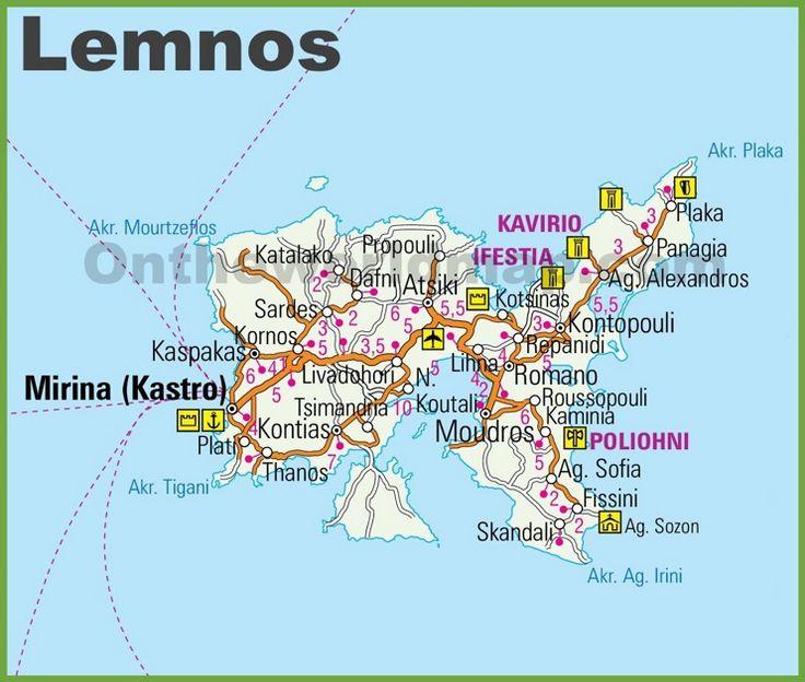 Rhodes road map Maps Pinterest Greece islands