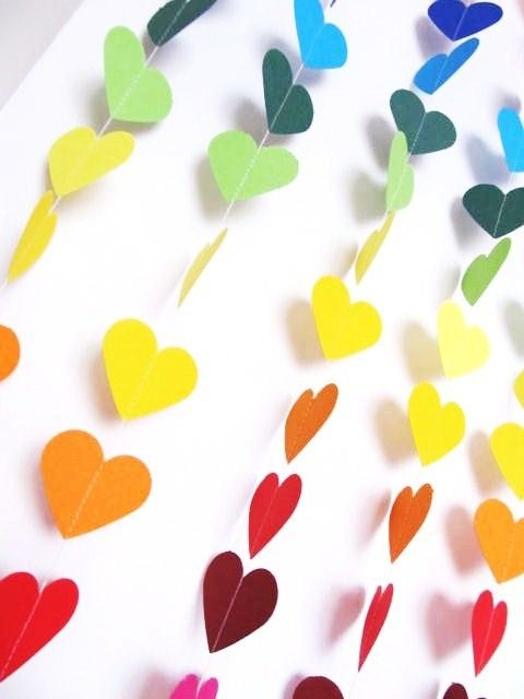 rainbow heart garland - set of 2 $24