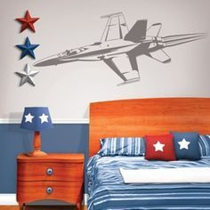boys+jet+room | ... theme/boys/airplane-room-decor/fighter-jet-sudden-shadows-wall-mural