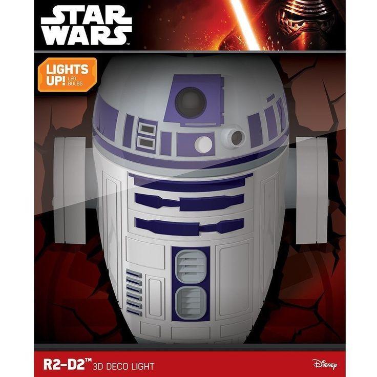 STAR WARS R2-D2 LED 3D FX Deco Night Light Wall Lamp,Unopened!!
