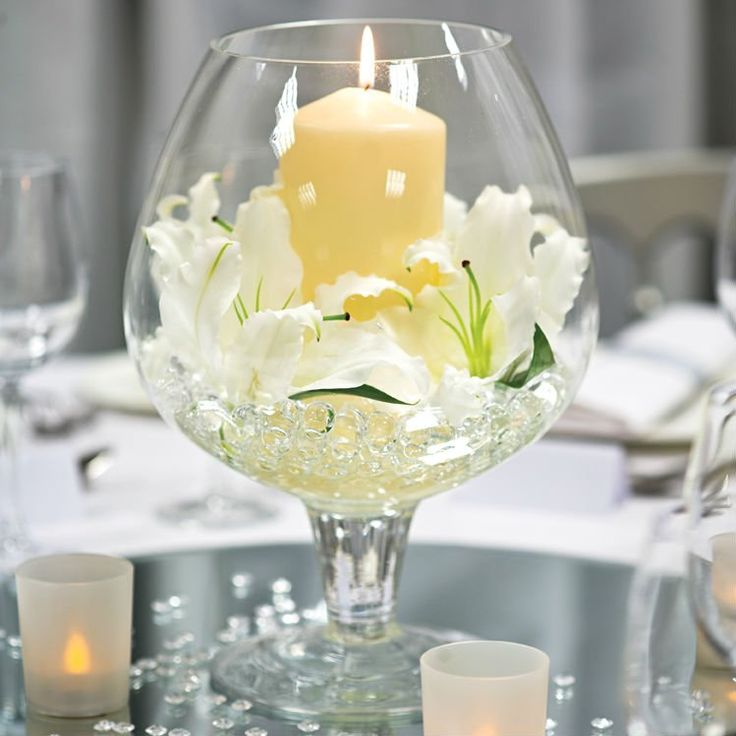 Water Wedding Centerpiece Ideas: 27 Best Water, Flowers & Fire For Your Wedding Images On