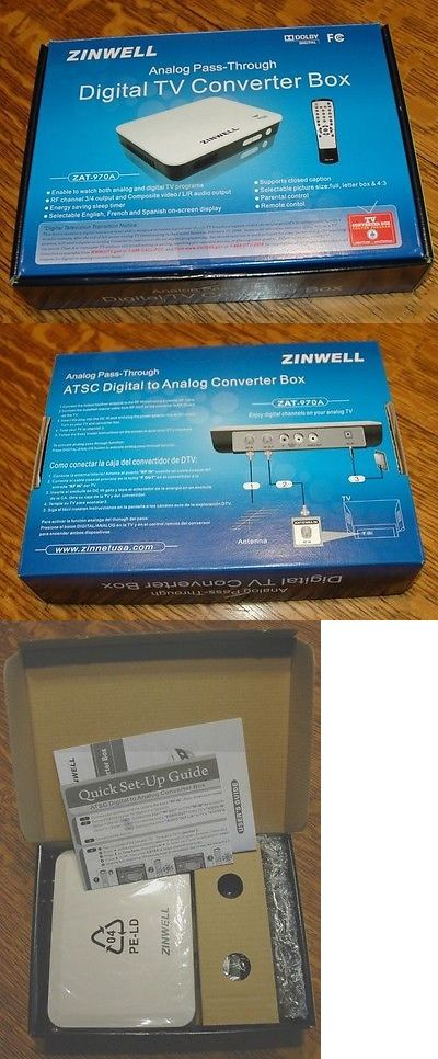 Cable TV Boxes: Zinwell Analog To Digital Tv Converter Box With Remote Zat-970A Nib BUY IT NOW ONLY: $40.0