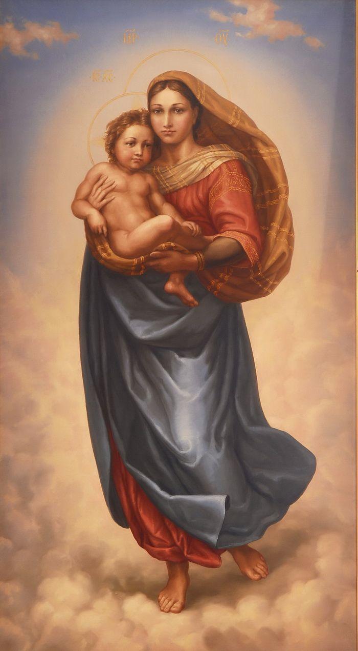 Картинки девы марии с младенцем