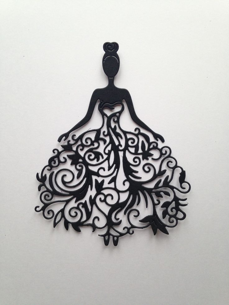 lot 3 découpes femme robe mariée scrapbooking embellissement album scrap die cut déco : Embellissements par lafscrap                                                                                                                                                                                 Plus
