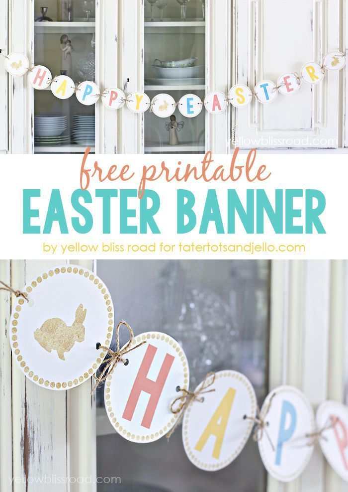 Free Printable Easter Banner - Click through for more Easter Printables