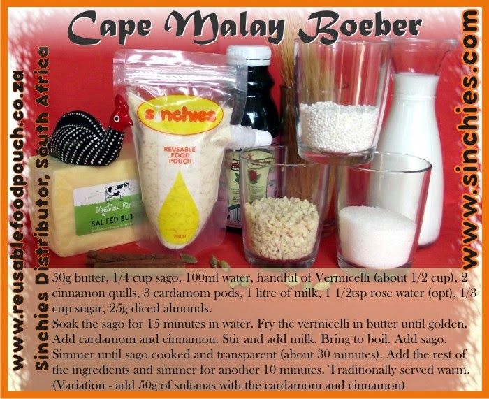 Reusable Food Pouch - RFP South African Recipes #sinchies